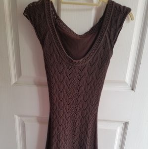 VS Chocolate Brown Crochet Dress